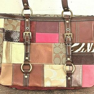 (NEVER USED) COACH 2006 Holiday Patchwork  Leather